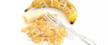 Mashed banana for baking - stock photos