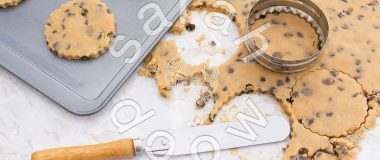 Chocolate chip cookies - stock photos