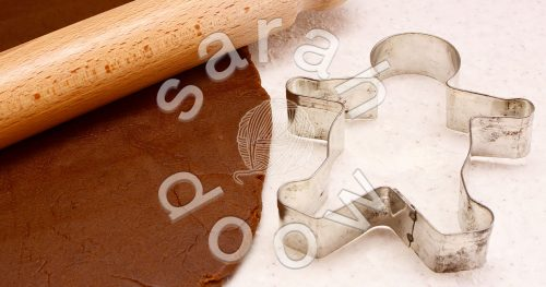 Baking gingerbread biscuits - stock photos