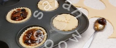Baking mince pies for Christmas - stock photos