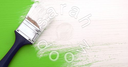 Painting bright colours - stock photos