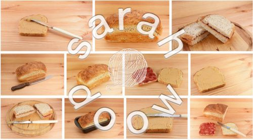 PB & J sandwiches by Sarah Doow at Shutterstock