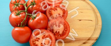 Roasting tomatoes - stock photos