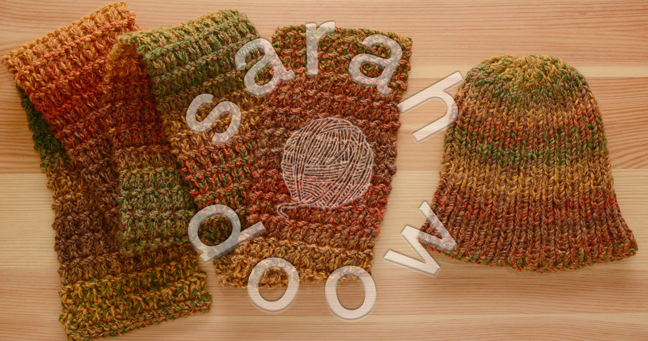 Hat and scarf sets on Etsy