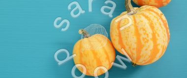 Society6 gourds on blue collection