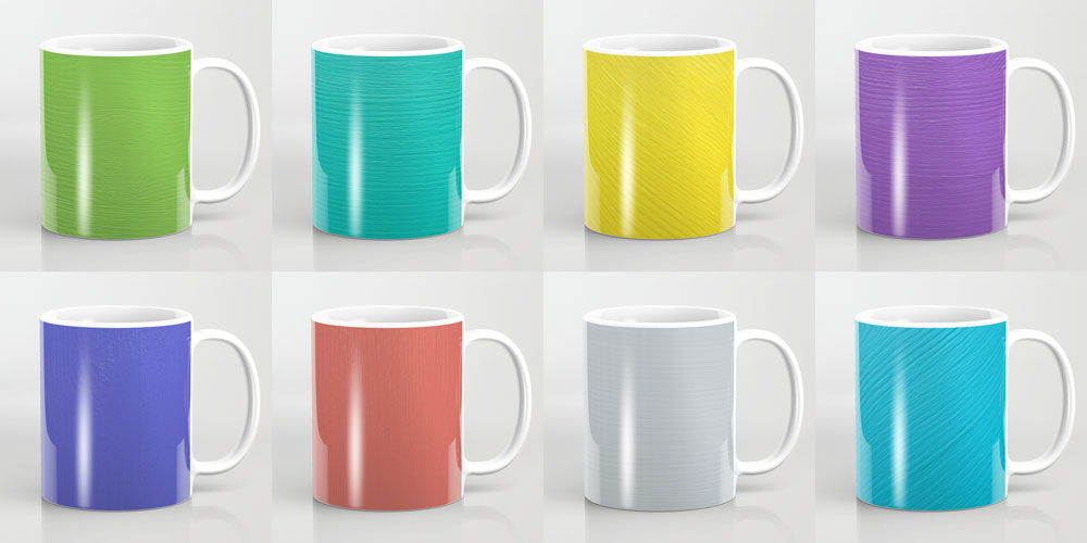 Painted mugs at Society6