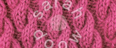 Society6 pink cable stitch collection