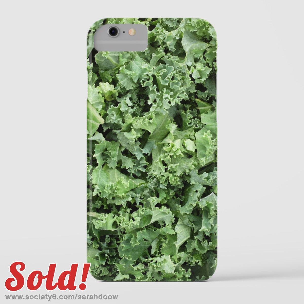 Shredded kale iPhone 8 case