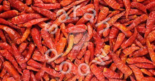 Society6 bird's eye chilli peppers collection
