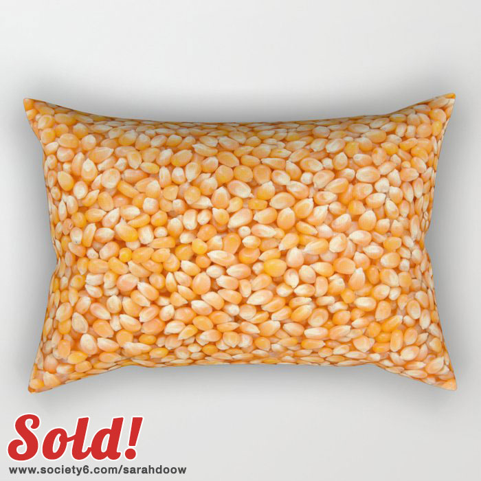 Popcorn maize rectangular pillow