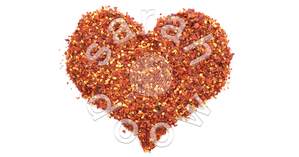 Crushed chillis Valentine heart – Society6 collection