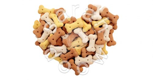 Society6 dog biscuits heart collection