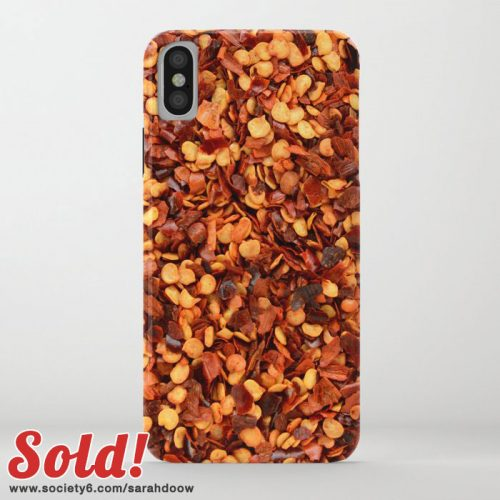 Hot and spicy crushed chilli peppers iPhone case by Sarah Doow on Society6