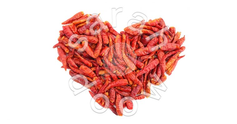 Spicy chilli peppers heart – Society6